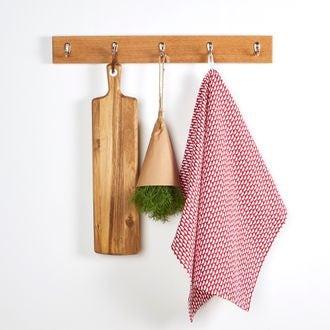 ZODIO - Torchon de cuisine imprimé pois cranberry 50x70cm