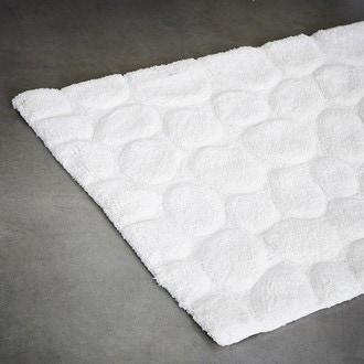 Tapis contour wc en coton Peeble ivoire 50x60cm