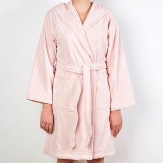 ad4e92013c2bc4 MAOM - Peignoir femme en coton éponge fard Taille S