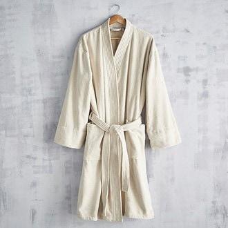 e57569cb07606d MAOM - Peignoir femme en coton éponge pashmina Taille M
