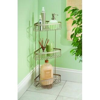 Serviteur de douche à poser - 3 niveaux satin York