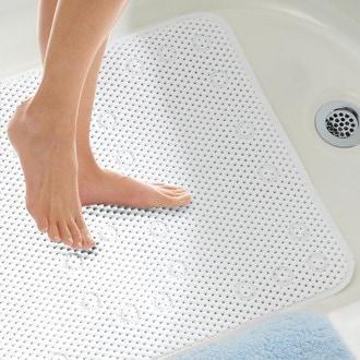 Tapis de baignoire antiderapant, blanc 43x92cm