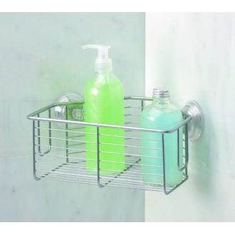 Panier de douche - d'angle à ventouse en inox Powermax