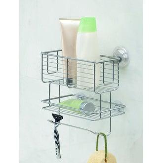 Panier de douche - 2 niveaux à ventouse en inox Powermax
