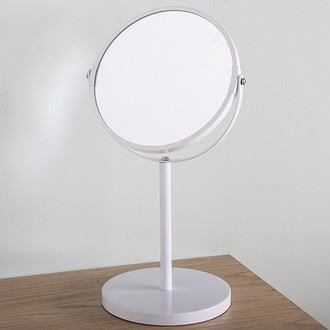 Miroir grossissant à poser blanc double face x3