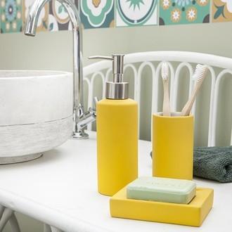 Porte-savon jaune fala soft touch