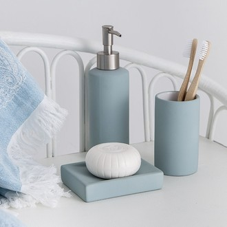 Porte-savon bleu glacier fala soft touch