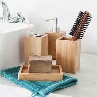 Porte brosse à dents en bambou holz