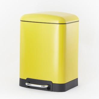 ZODIO - Poubelle de salle de bain rectangulaire moutarde - 6L
