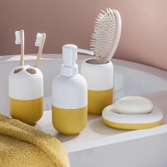 Zodio - porte brosse à dents moutarde capsule