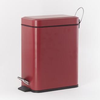 Poubelle de salle de bain rectangulaire brique - 5L