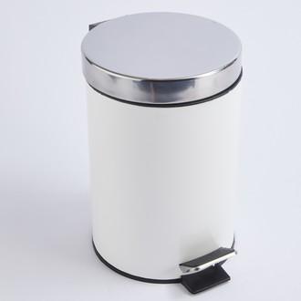 Poubelle de salle de bain happy blanc et chrome - 3L
