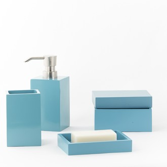 Pot à coton bleu turquoise Kare
