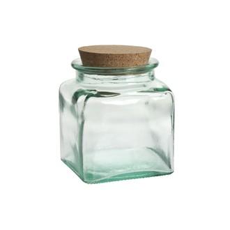Pot de conservation en verre avec bouchon en liège 25CL