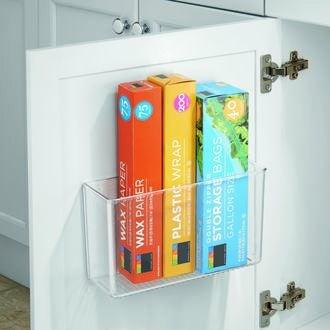 INTERDESIGN - Organiseur de placard adhésif en acrylique 8x28x10cm