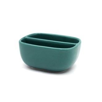 ZODIO - Porte éponge double grès turquoise