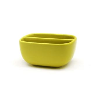 ZODIO - Porte éponge double grès jaune moutarde