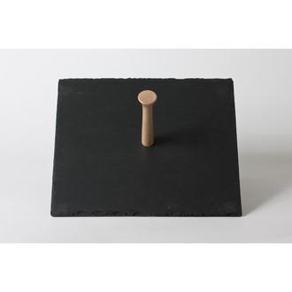 Plateau carré en ardoise avec poignée 30cm