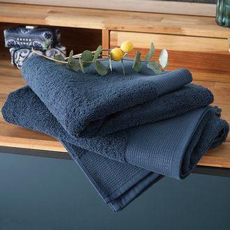 Serviette de bain bio denim 100x150cm