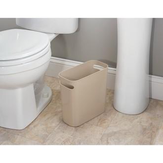INTERDESIGN - Poubelle de salle de bain étroite taupe 5.5L 27x12x25cm