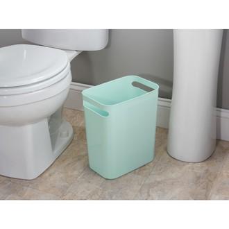 INTERDESIGN - Poubelle de salle de bain étroite bleu pastel 9.5L 28x16x30cm