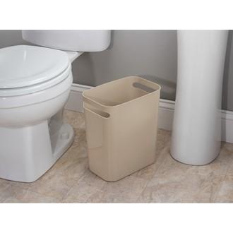 INTERDESIGN - Poubelle de salle de bain étroite taupe 9.5L 28x16x30cm