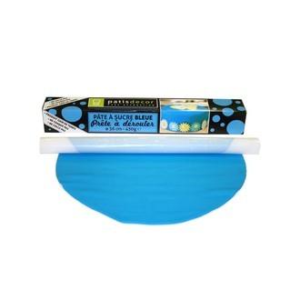 Patisdecor - pâte à sucre bleue prête à dérouler aromatisée vanille 36cmx4mm