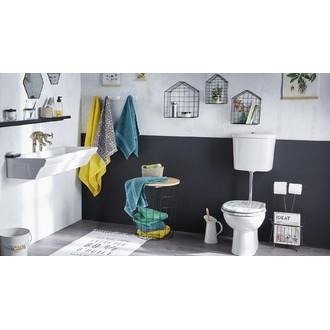 Abattant de toilette imprimé rayures effet bois