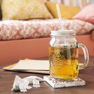 Quai sud - thé vert glacé à la menthe  12sachets avec mason jar