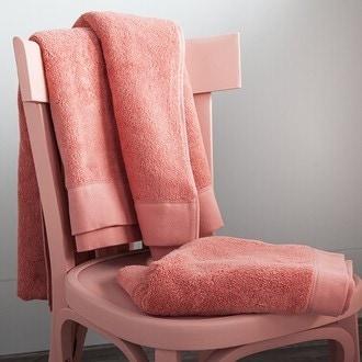 Maom - serviette de bain en coton éponge corail 100x150cm