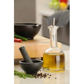 Bouteille à huile et vinaigre en verre 400ml