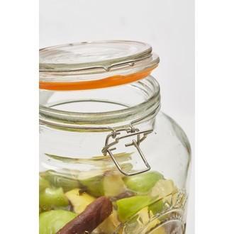 KILNER - Fontaine vintage à boisson en verre transparente 5L