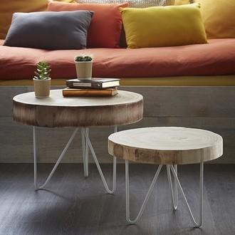 TABLE RONDIN DE BOIS 24X34CM