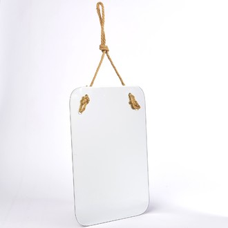 Miroir rectangulaire avec corde