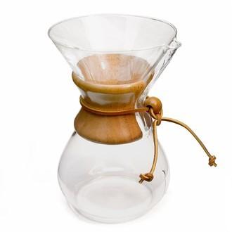 Chemex - cafetière en verre avec poignée en bois 6 tasses