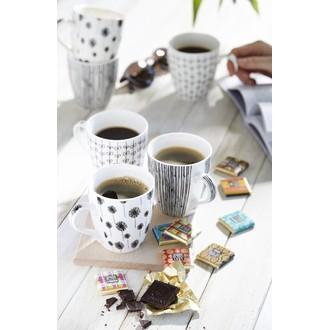 Coffret 6 tasses à café noir kashmir
