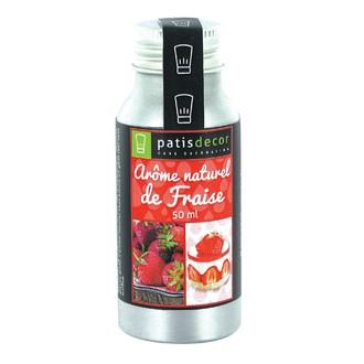 PATISDECOR - Arôme naturel fraise liquide 50ml