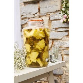 KILNER - Fontaine vintage à boisson en verre transparente 8L