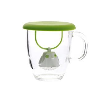 Couvercle infuseur à thé vert Birdie