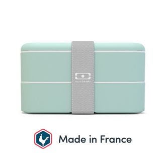 MONBENTO - Lunch box avec 2 compartiments verte Matcha 1L
