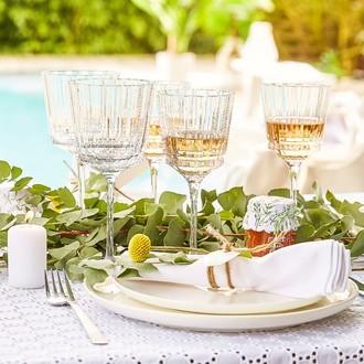 Verre à vin en cristal macassar, 35cl