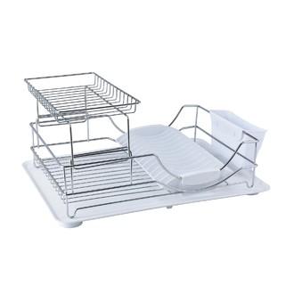Egouttoir à vaisselle en métal chromé avec plateau 52x35.2x23.2cm