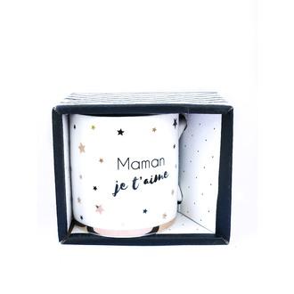 LA CARTERIE - Coffret mug porcelaine Maman je t'aime