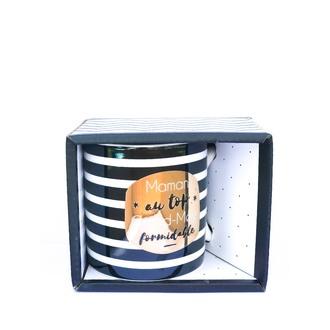 LA CARTERIE - Coffret mug porcelaine Maman au top