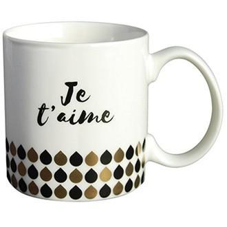 LA CARTERIE - Coffret mug porcelaine je t'aime