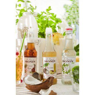 Monin - coffret de sirops cocktail sans alcool mojito, rhum, pina colada, 3x25cl