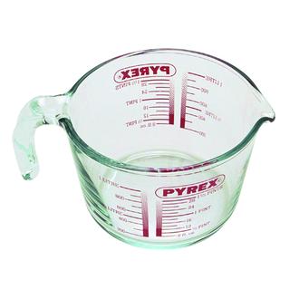 PYREX - Broc mesureur avec anse gradué verre boro transparent 1L 21X15.5X10.7cm