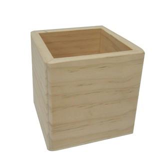 Base de boite à bijoux en bois carré 10x10x10cm