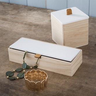 Base de boite à bijoux en bois rectangulaire 23x9x5cm