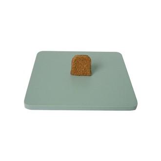Couvercle pour boite à bijoux en bois carré sauge